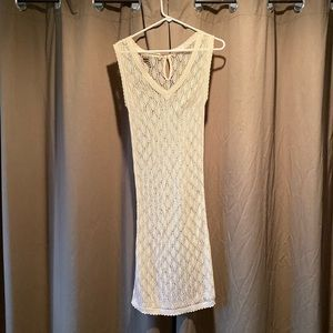 Long Old Navy Lace/Sheer Dress